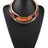 Brown Wooden Block Choker