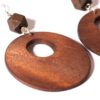 Dark Brown Wooden Drop Earrings