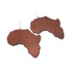 Wooden African Continent Earrings