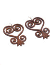 Wooden 'Sankofa' Adinkra Earrings