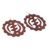 Wooden 'Gye Nyame' Adinkra Earrings